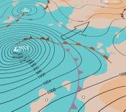 Stormfördjupningsdiagram vektor illustrationer