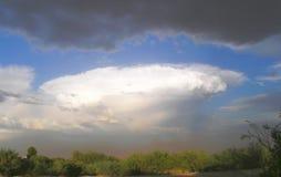Stormig öken Moonson Arkivfoton