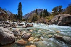 Stormig bergflod Fotografering för Bildbyråer