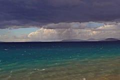 Stormig dag på havet Royaltyfri Bild