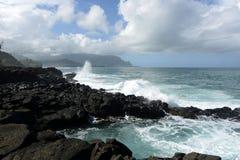Stormig kust Royaltyfria Bilder