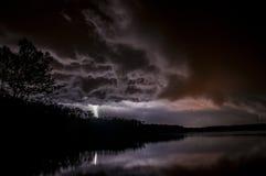 stormig natt Arkivbilder