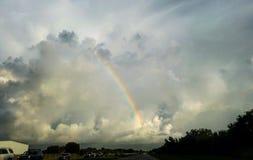 Stormig regnbåge Royaltyfri Bild