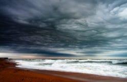 stormig seashore Royaltyfri Fotografi
