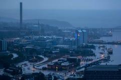 Stormig sikt över Stockholm Royaltyfri Foto
