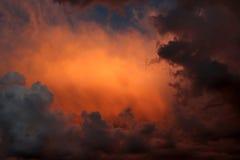stormig sky arkivfoto