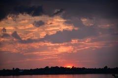 stormig solnedgång Royaltyfria Foton