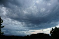 Stormig solnedgång 7 Fotografering för Bildbyråer