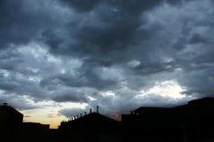 Stormig solnedgång 3 Royaltyfri Foto