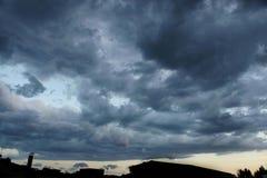 Stormig solnedgång 4 Royaltyfri Foto