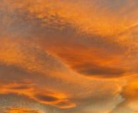 Stormig solnedgång för Moray. arkivbild