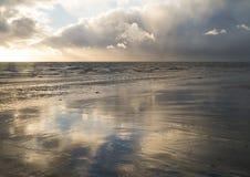 stormig strand Royaltyfri Foto