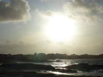 Stormig strand i Norge Royaltyfri Fotografi