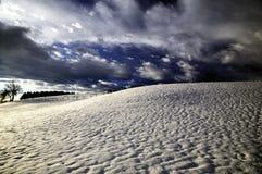 stormig vinter för liggande arkivfoto