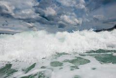 stormigt Adriatiskt hav Royaltyfria Foton