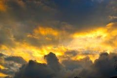 Stormigt glöd Arkivfoton