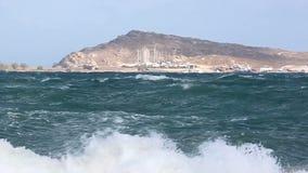 stormigt hav stock video