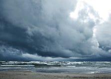 Stormigt hav Fotografering för Bildbyråer