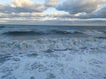 stormigt hav arkivfoto