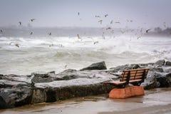 Stormigt hav av Marmara Royaltyfri Foto