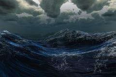 Stormigt hav under mörk himmel Royaltyfria Foton