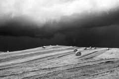 Stormigt landskap i Campania (Italien) Royaltyfri Bild