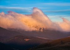 stormigt väder för berg Royaltyfri Foto