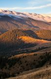 stormigt väder för berg Fotografering för Bildbyråer
