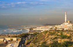 Stormigt väder i Tel Aviv Arkivbild
