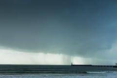 Stormigt väder på havet Fotografering för Bildbyråer