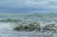 Storming sea. Closeup shot landscape Stock Photography