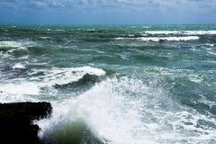 Stormkust av medelhavet av Spanien Fotografering för Bildbyråer