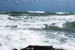 Stormkust av medelhavet av Spanien Royaltyfri Bild