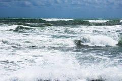 Stormkust av medelhavet av Spanien Arkivbild