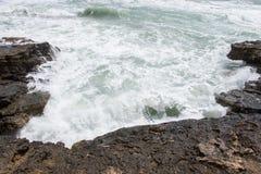 Stormkust av medelhavet av Spanien Royaltyfri Fotografi