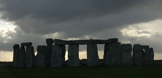 Stormlight over Stonehenge Stock Photo