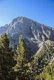 Stormloop, het begin van rotskreta Samaria Gorge Royalty-vrije Stock Fotografie
