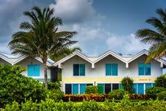 Stormmoln över palmträdet och andelslägenheter i den södra stranden, Mia Arkivbild