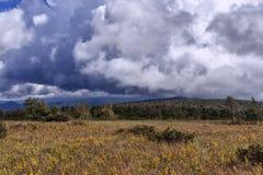 Stormmoln i de Ural bergen Royaltyfria Bilder