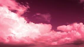 Stormmoln med det röda filtret. Video utan fåglar