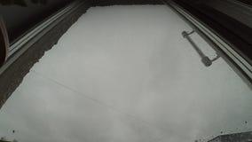 Stormmoln utanför fönstret stock video
