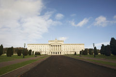 Stormont building. Exterior of Stormont building with long driveway in foreground, Belfast, Northern Ireland royalty free stock image
