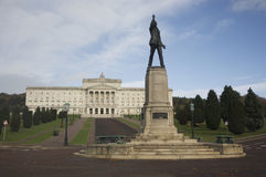 Stormont building. With Edward Carson statue in foreground, Belfast, Northern Ireland stock photos
