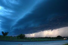 Storms are coming. A major updraft in a supercell weather of Oklahoma Royalty Free Stock Photo