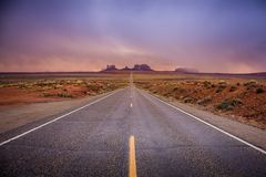 The road to Monument Valley stock photos