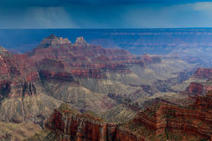 Storms on the Grand Canyon. Storms on the south rim of the Grand Canyon, Arizona Royalty Free Stock Image