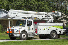 Storms Hit Midwest Keeps Power Companies Busy Stock Images
