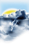 Storms and sun at the same time Royalty Free Stock Images
