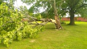 Stormskada på mitt hus Arkivfoton