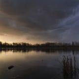 Stormstorm av sjön Arkivbilder